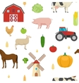 Agriculture Seamless Pattern vector image vector image
