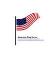 american flag design template icon symbol vector image vector image