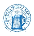 Beer Shabby stamp vector image
