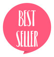 best seller tag red color isolated on white vector image vector image