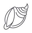 big shell line icon sign o vector image