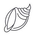 big shell line icon sign o vector image vector image