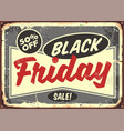 black friday sale business concept advertisement vector image