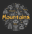 black mountains concept vector image vector image
