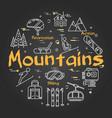 black mountains concept vector image