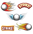 Bowling ball icons vector image