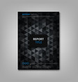 brochures book or flyer with abstract dark vector image vector image