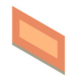 brown frame icon isometric style vector image