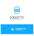 burger fast food fast food blue logo line style vector image vector image