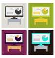 business infographic layout vector image vector image