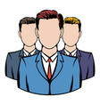 businessmen icon cartoon vector image vector image