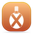 camping flask icon vector image vector image