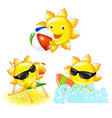 cartoon suns vector image