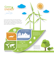 Creative Infographic design with wind turbines vector image vector image