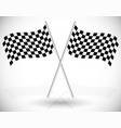 crossed checkered racing flags vector image vector image