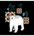 Decorative print with polar bear vector image vector image