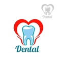 Dental isolated tooth icon vector image