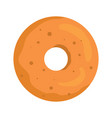 donut colorful bakery product icon vector image