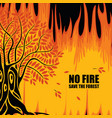 eco poster on theme forest fires save