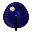 fan and night vector image vector image