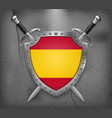 flag of spain without coat of arms the shield vector image vector image