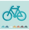 Flat design bicycle vector image