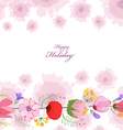 Floral background Floral card Watercolor floral vector image vector image