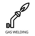 gas welding icon outline style vector image