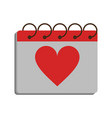 gift heart flat vector image vector image