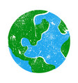 globe earth planet graphic vector image vector image