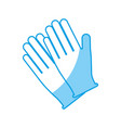 gloves accessory icon vector image vector image