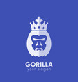 gorilla king logo elements vector image