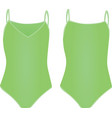 green swimsuit vector image