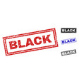 Grunge black textured rectangle stamp seals