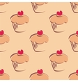 Hand drawn cupcake pattern or tile wallpaper vector image vector image
