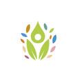 happy children logo vector image