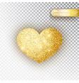 heart golden glitter isoleted on transparent vector image