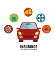 icon insurance car design vector image
