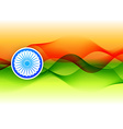 indian flag design made in wave style vector image vector image