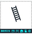Ladder icon flat vector image