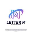 letter m logo design concepts initial m planet vector image vector image