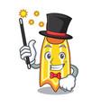 magician swim fin mascot cartoon vector image