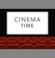 movie cinema cinema hall with seats premiere vector image