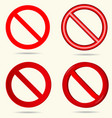 No sign set vector image