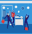 office workers concept in flat vector image vector image