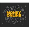online money concept vector image
