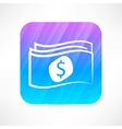 paper money icon vector image vector image