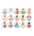 people different races and nationalities vector image