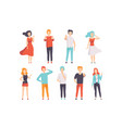 people showing different gestures set faceless vector image vector image