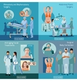 Plastic surgery concept 4 flat icons square vector image vector image